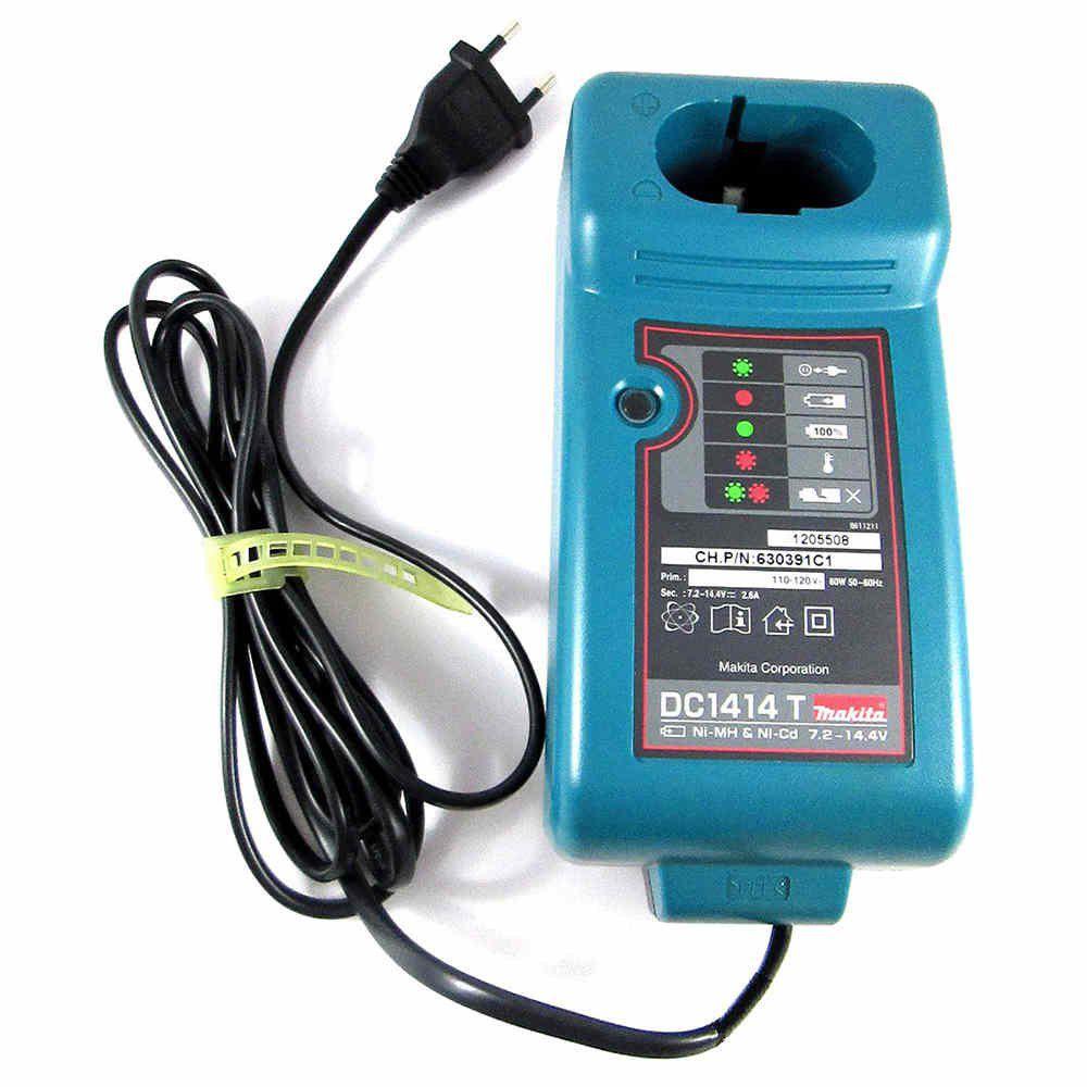Carregador De Bateria 7,2v. A 14,4v - Makita Dc1414t