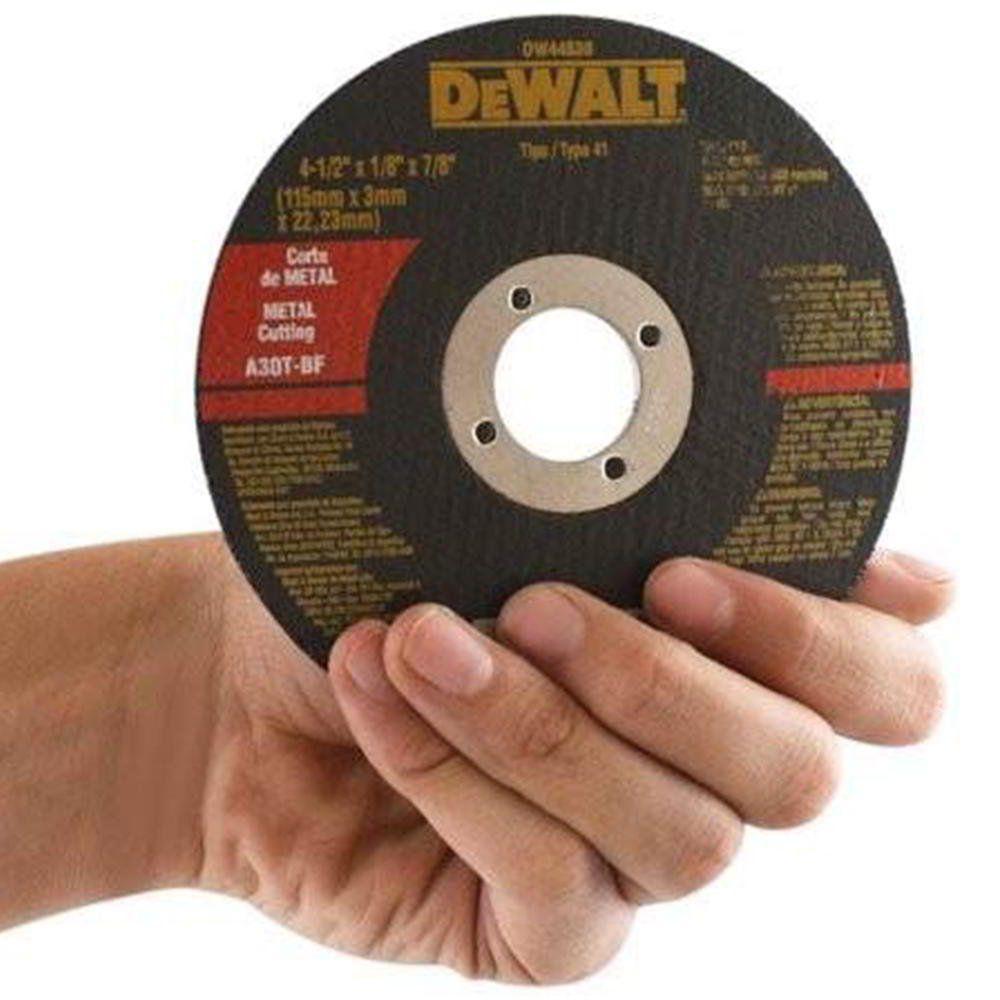 Disco Corte Metal 4.1/2 X 1/8 X 7/8 Pol. Dw44530 Dewalt