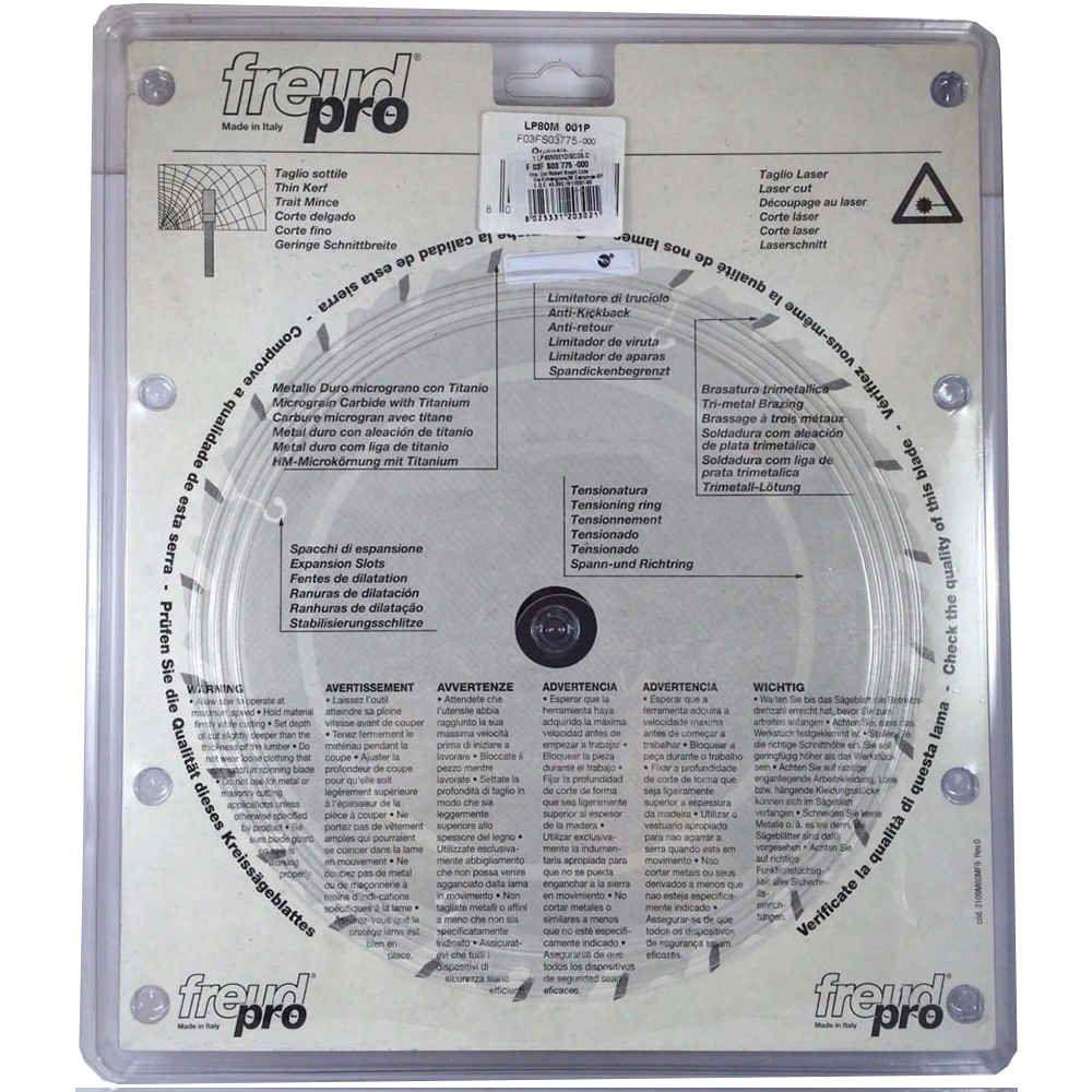 Disco de Serra 250mm 80 Dentes F.30 para Alumínio LP80M Freud