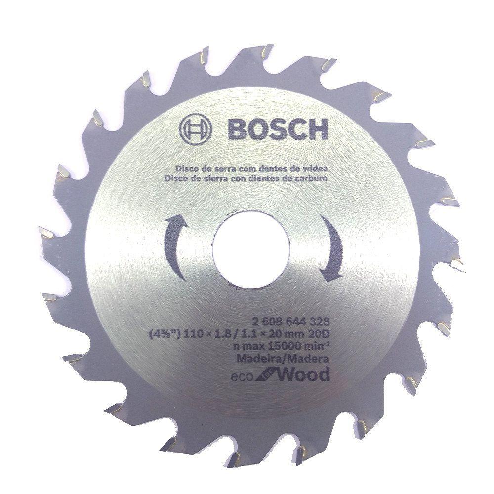 Disco de Serra Circular 4.3/8 Pol. Eco Madeira 20 Dentes Bosch