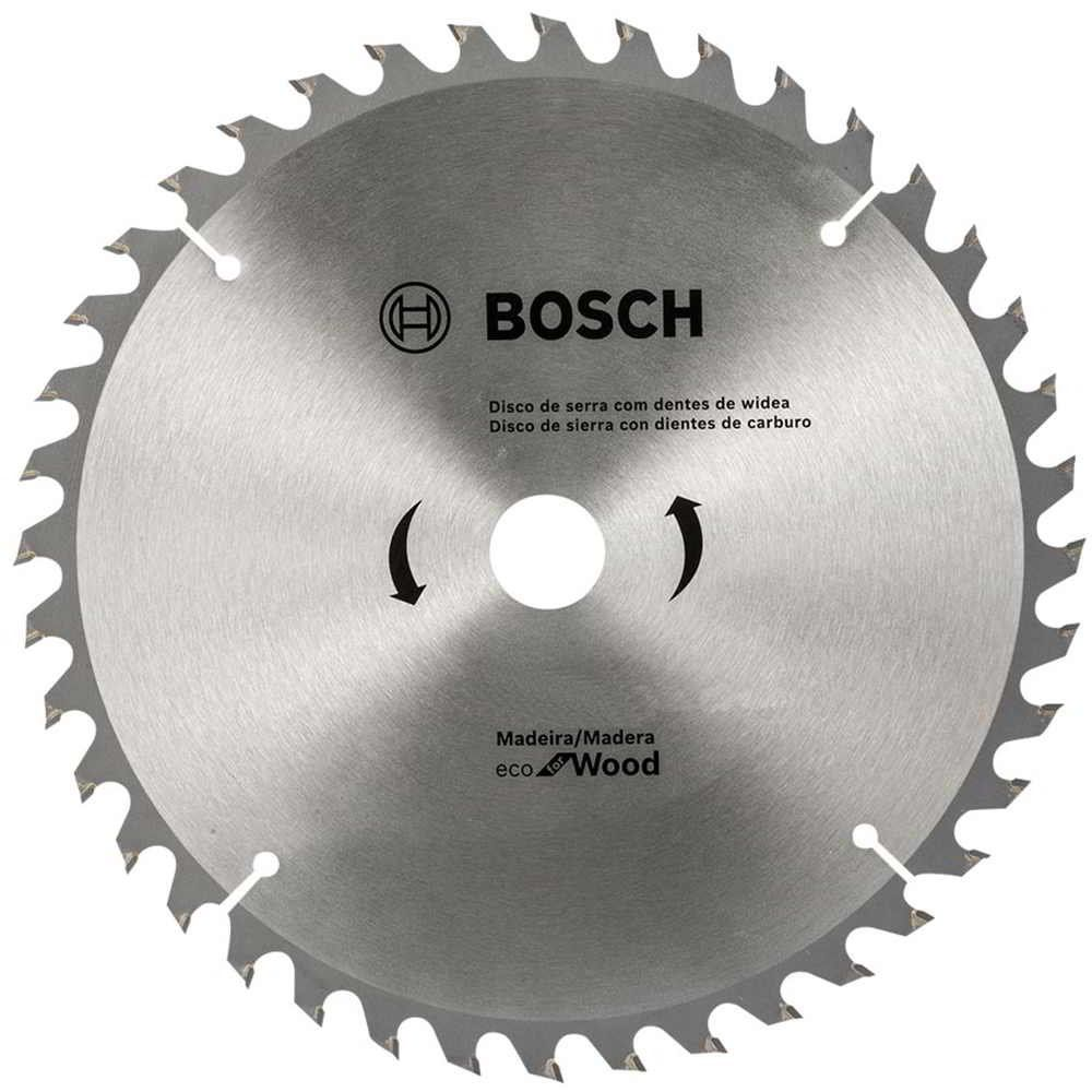 Disco de Serra Circular 7.1/4 Pol. Eco Madeira 40 dentes Bosch