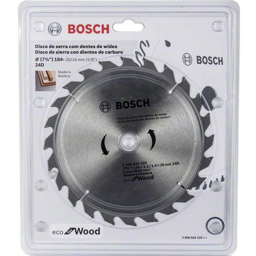 Disco de Serra Circular 7.1/4 Pol. Eco Madeira Bosch