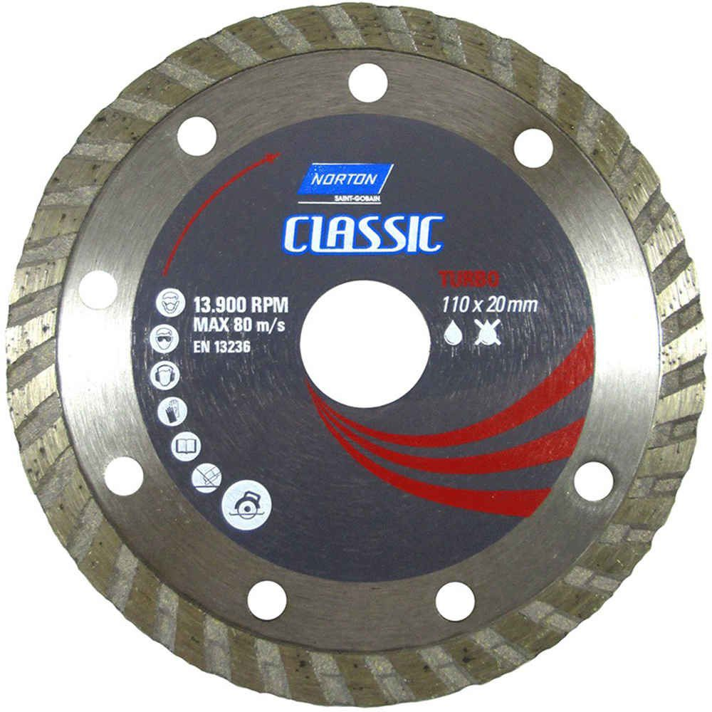 Disco Diamantado Classic Turbo 110mm X 20mm Norton