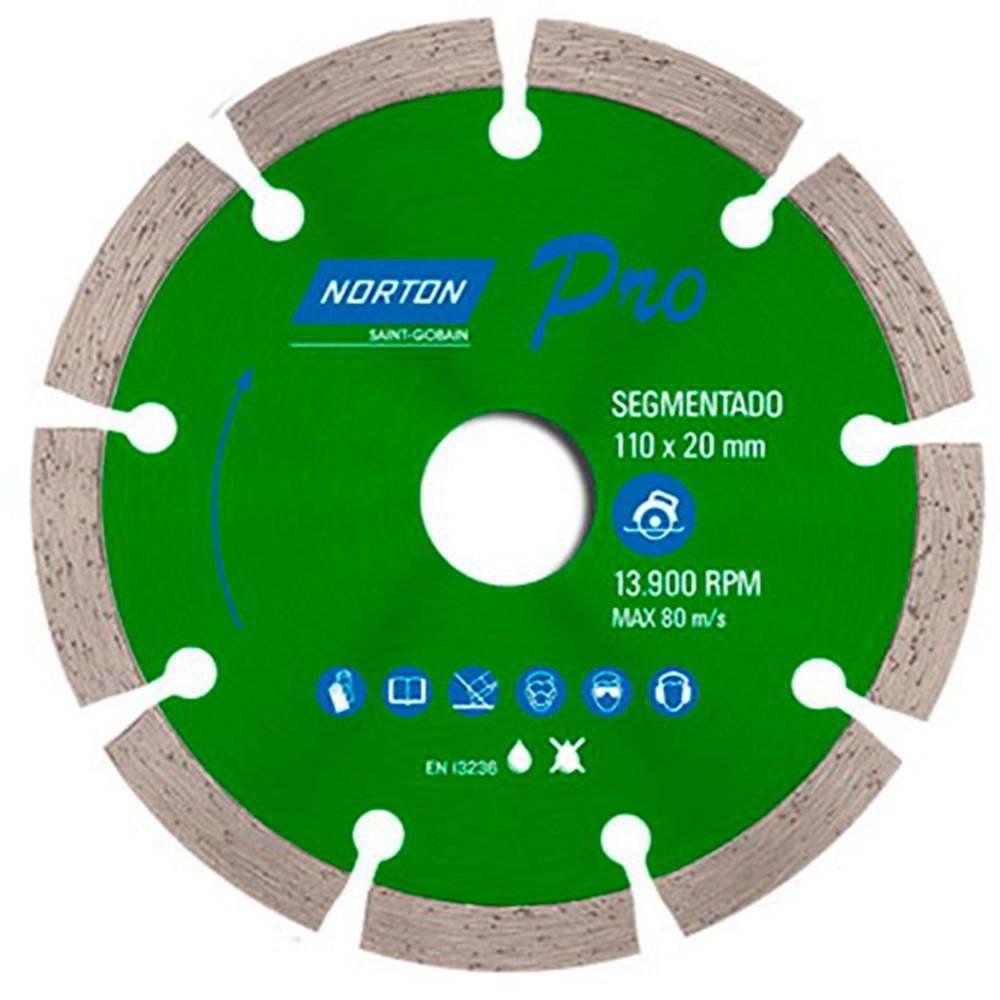 Disco Diamantado Pro Segmentado 110mm X 20mm Norton