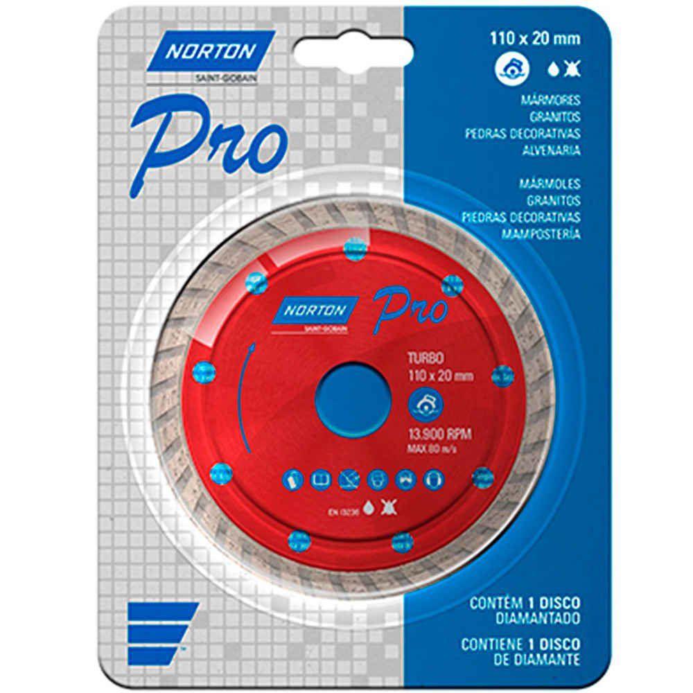 Disco Diamantado Pro Turbo 110 X 20mm Norton