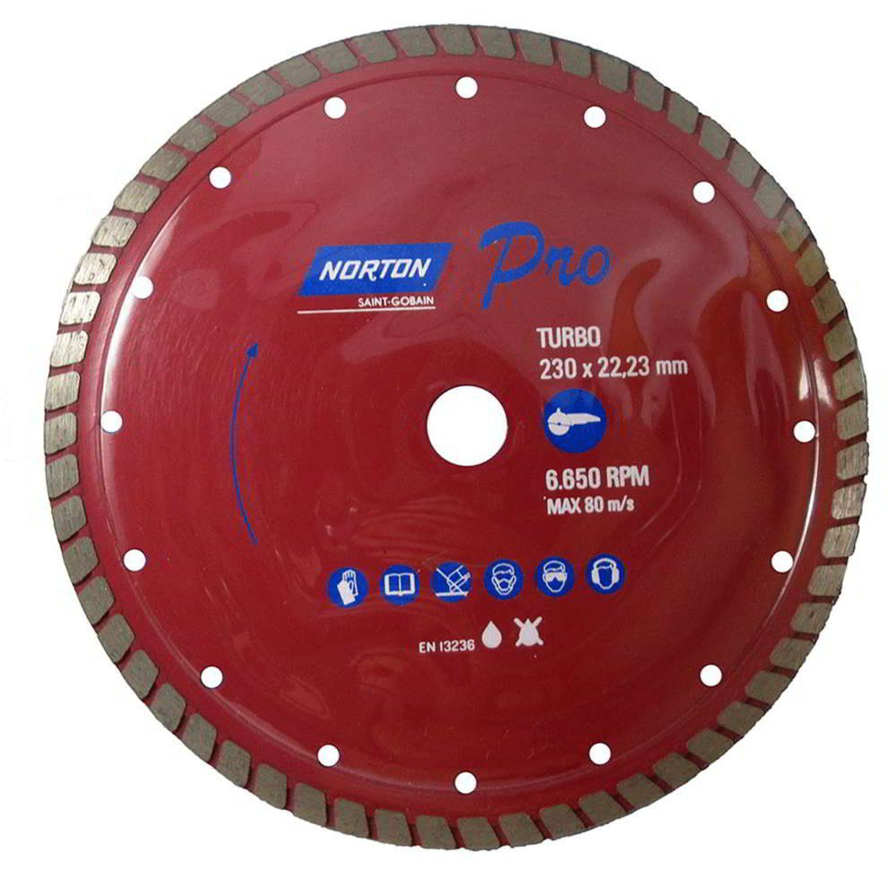 Disco Diamantado Pro Turbo 230mm X 22,23mm Norton