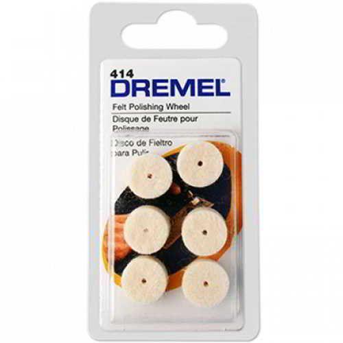 Discos de Feltro para Polir 12,7mm Dremel 414 com 6 Peças