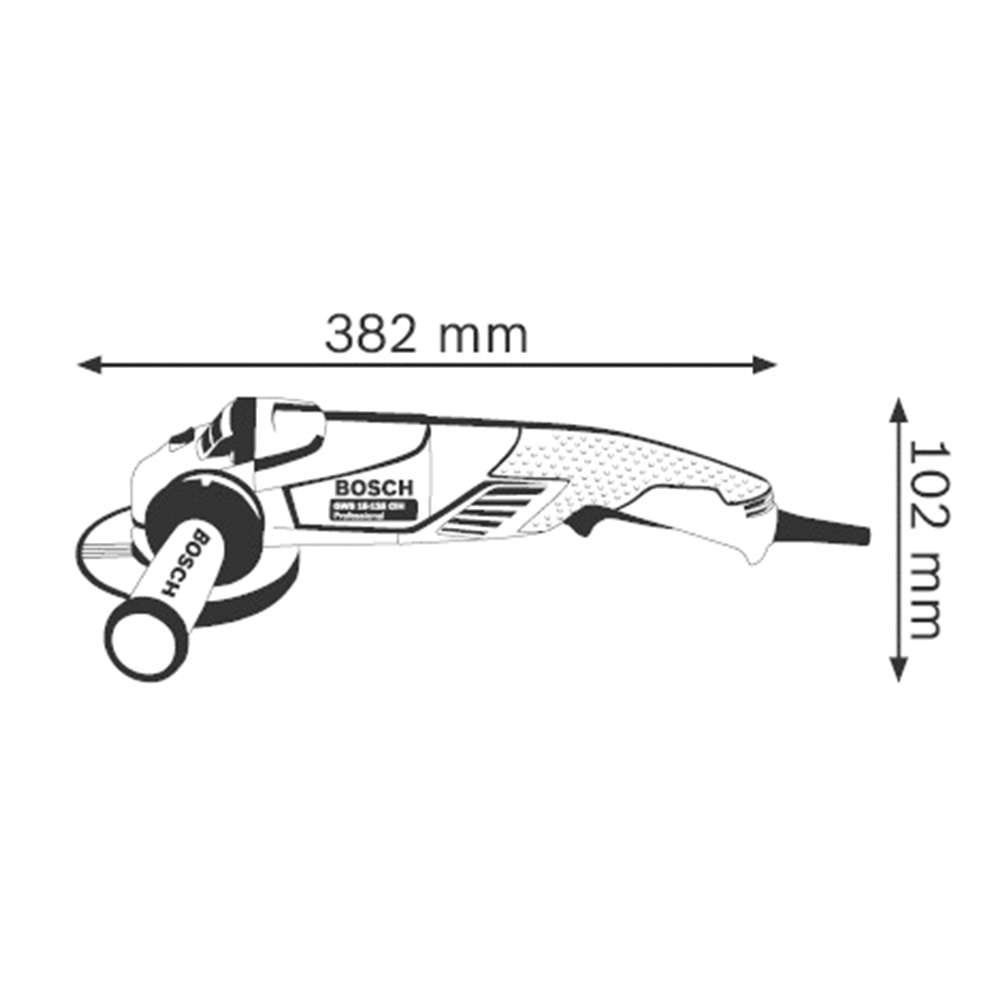 Esmerilhadeira Angular 5 Pol. GWS 15-125 CIH Bosch