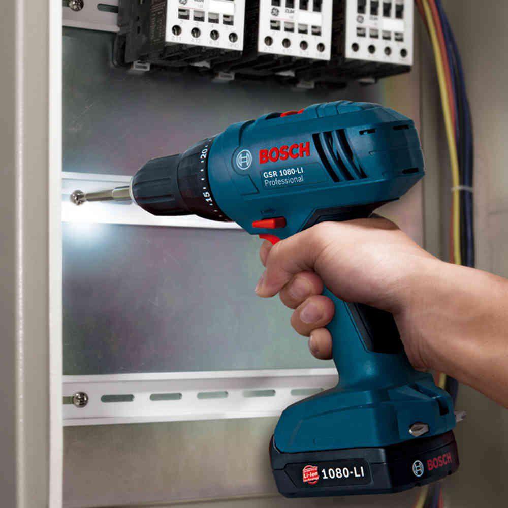 Furadeira e Parafusadeira 3/8 Pol. GSR 1080 LI com 2 Baterias Bosch