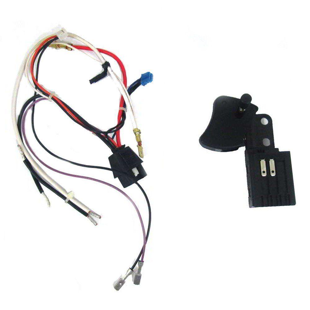 Interruptor Preto para Politriz DW849 Tipo 2 Dewalt