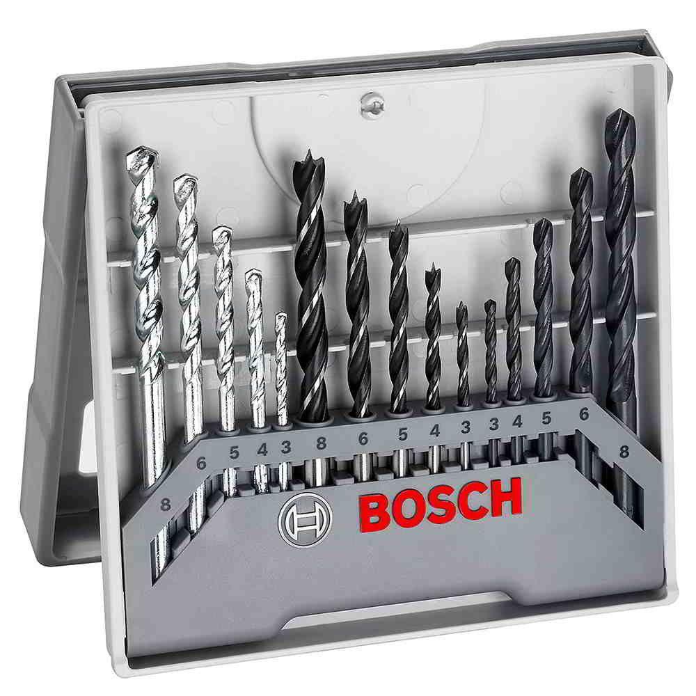 Jodo de Brocas 15 peças AR Concreto Madeira Bosch