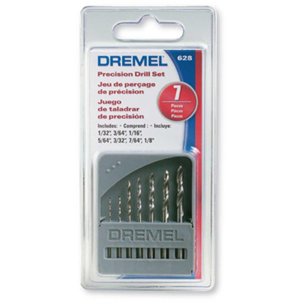 Jogo de Brocas 0,8 a 3,2mm para Micro Retífica com 7 Peças Dremel 628