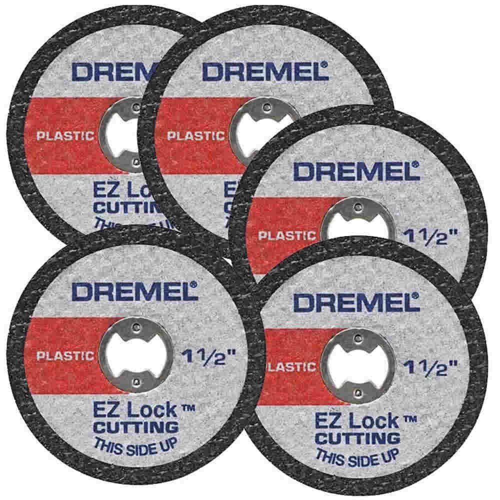 Kit 5 peças Discos Corte para Plástico Dremel EZ476
