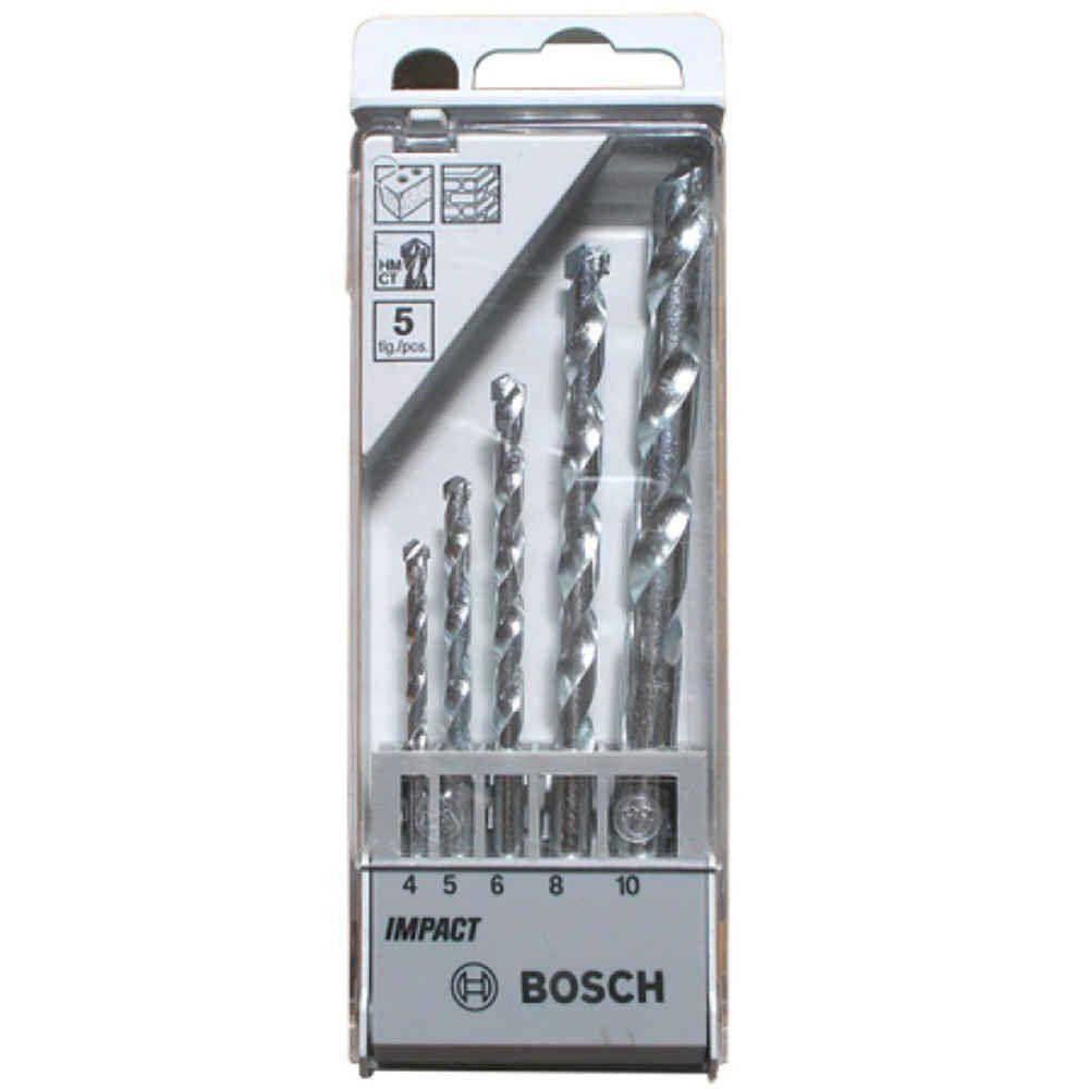 Kit com 5 Brocas para Concreto CYL-1 Bosch