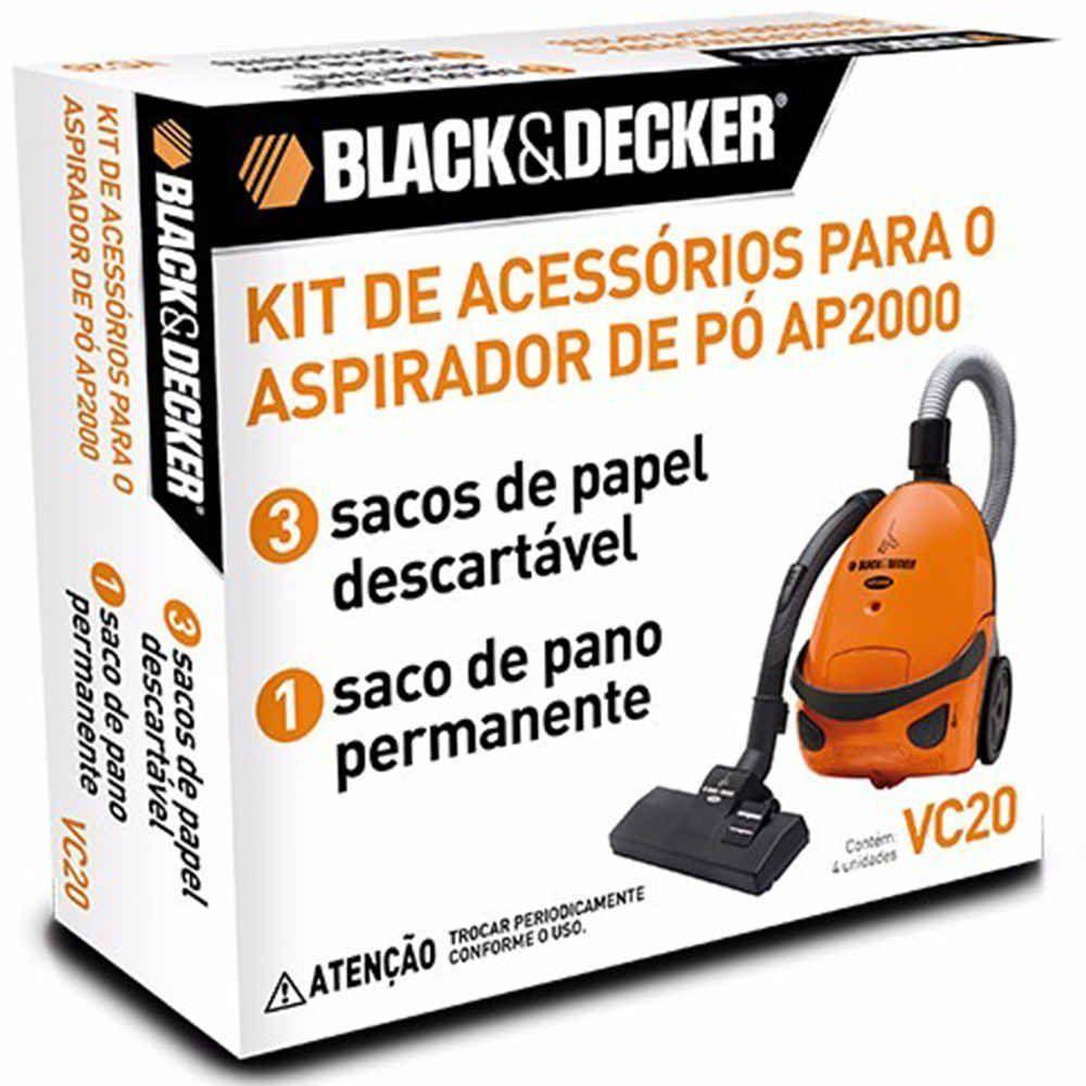 Kit de Acessório para Aspirador de Pó AP2000 Black & Decker
