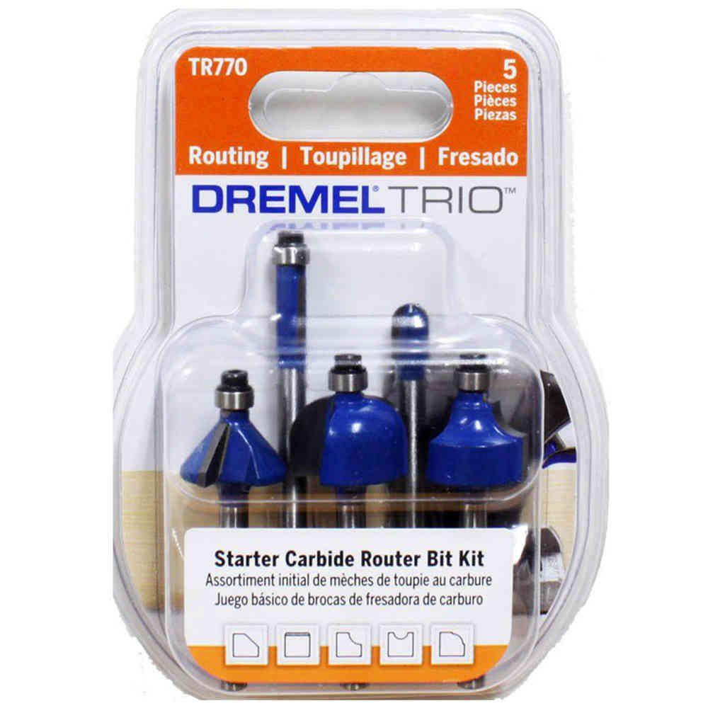 Kit Fresas Especiais para Dremel Trio com 5 Peças Dremel TR770