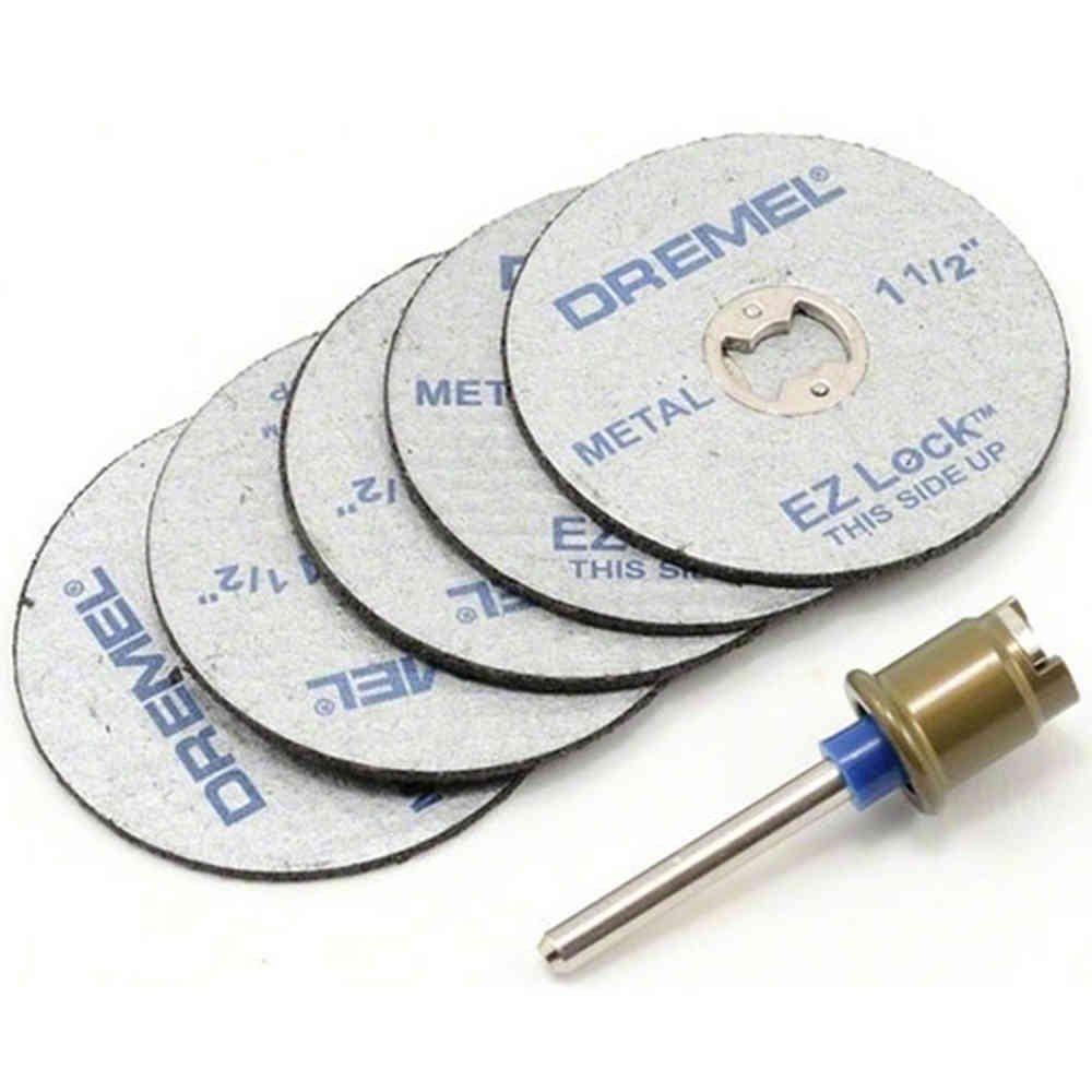 Kit Mandril com 5 Discos de Corte Metal Dremel EZ406