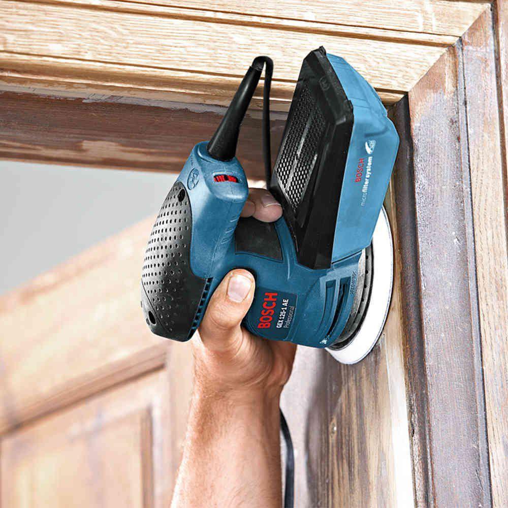 Lixadeira Excêntrica 250W com Coletor de Pó GEX 125 1 AE Profissional Bosch