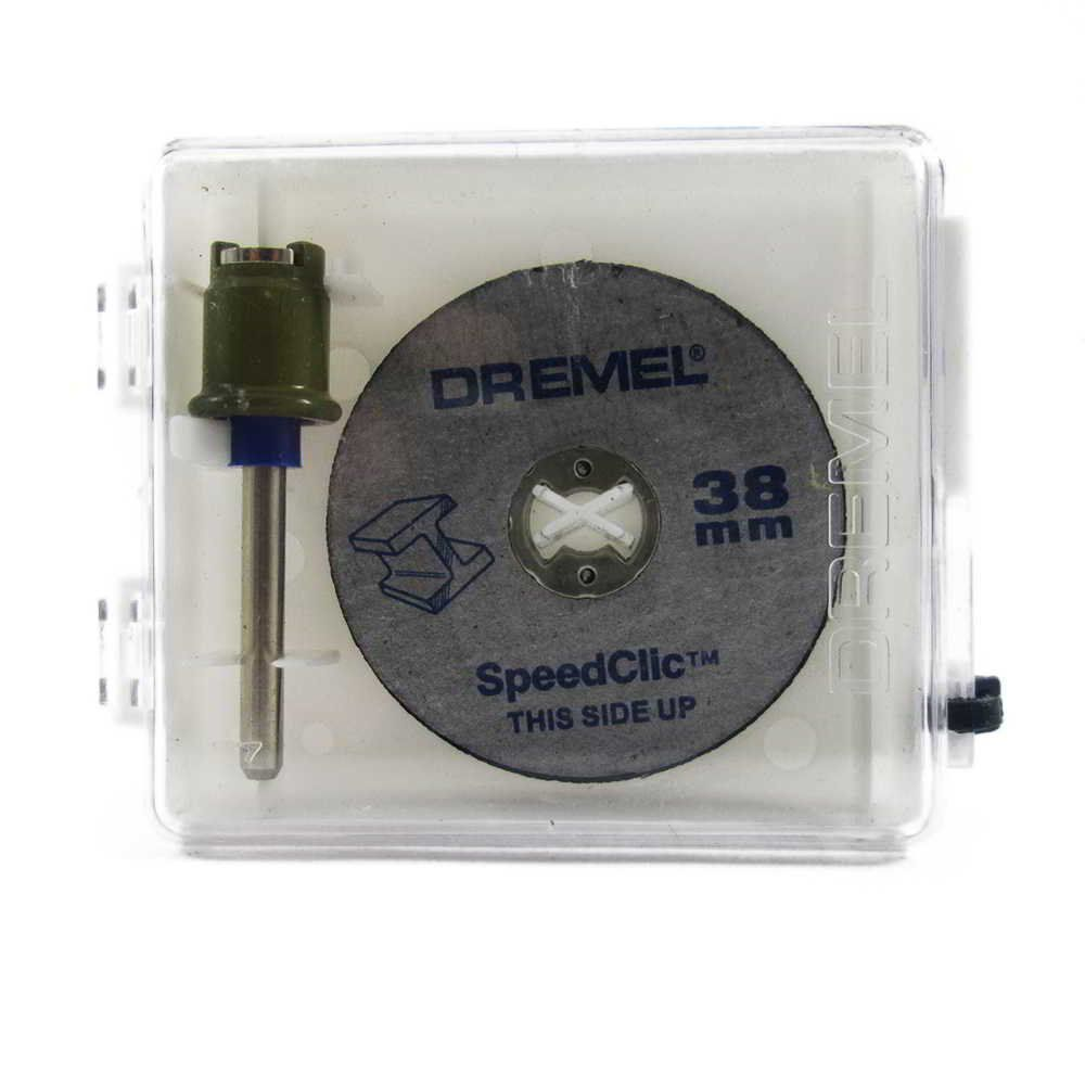 Mandril com 2 Discos de Corte SpeedClic Dremel