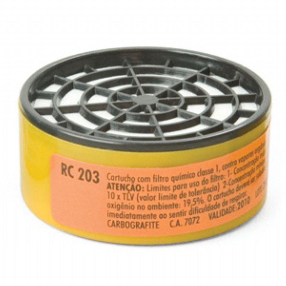Mascara Respiratoria Cg-306 com 2 Filtros Rc 203 e 10 Pré Filtro