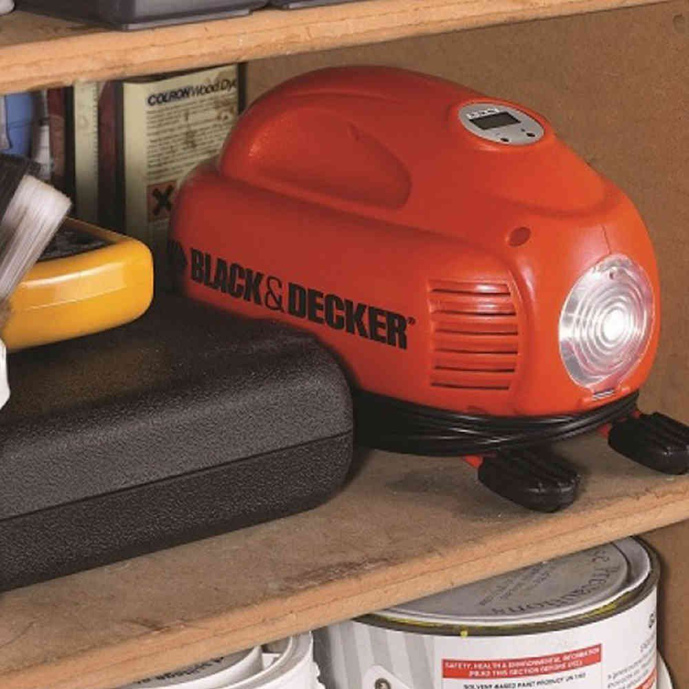 Mini Compressor Portátil Digital 12V ASI200 LA Black & Decker