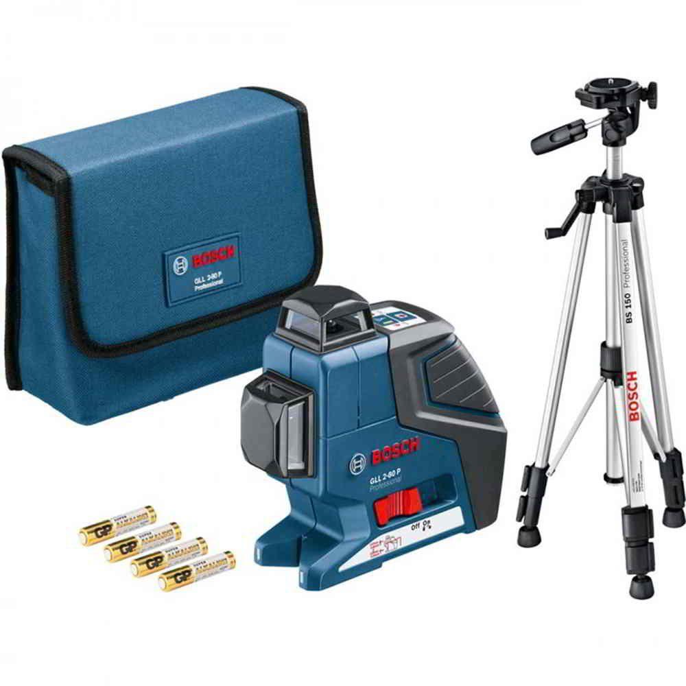 Nível Laser 80M 1063 GLL 2-80 com Tripe BS150 Bosch