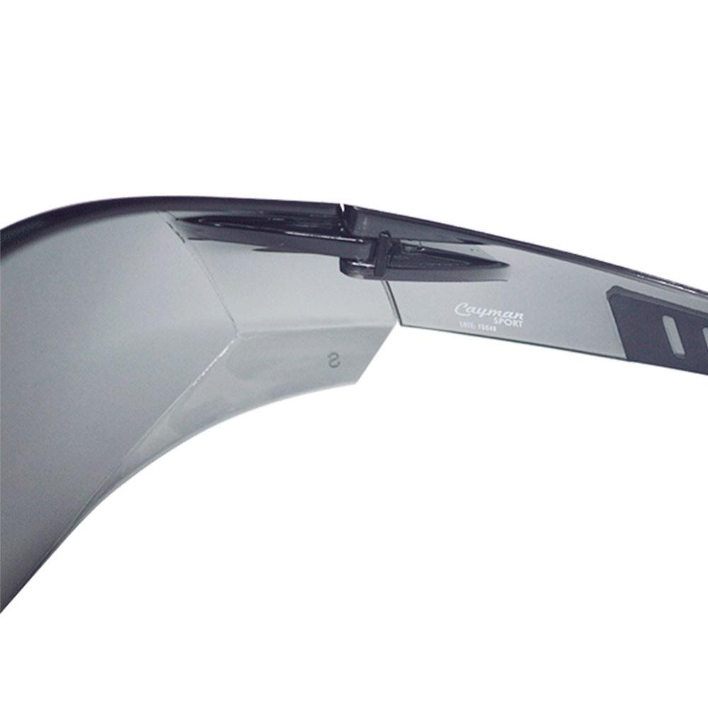 Óculos de Segurança Cayman Sport Cinza Espelhado - Carbografite