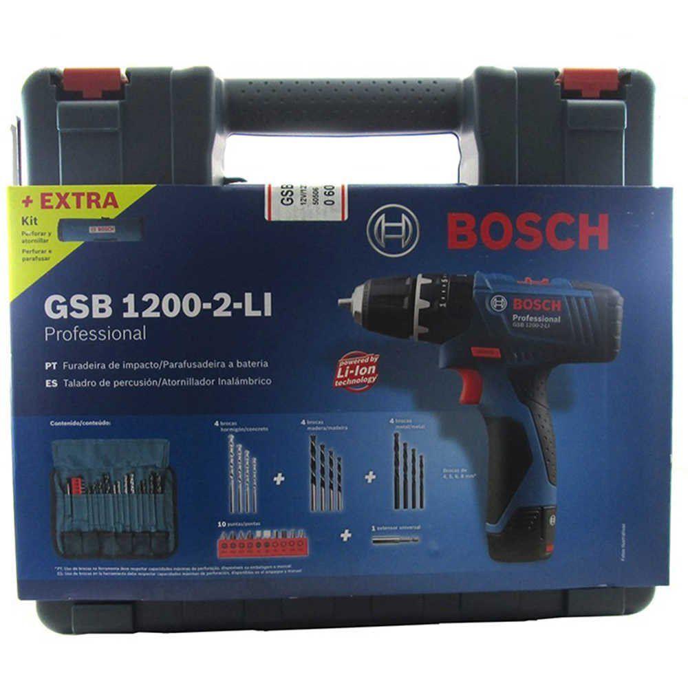Furadeira Parafusadeira de impacto Bosch GSB 1200-2-LI