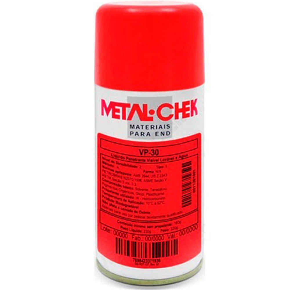 Penetrante Spray VP 30 Visivel Lavável à Água Metal Chek