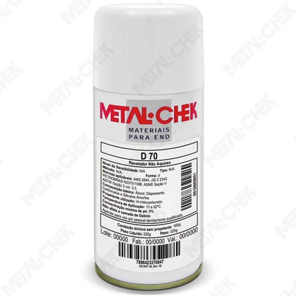 Revelador D 70 Não Aquoso Lata 325gr Metal Chek