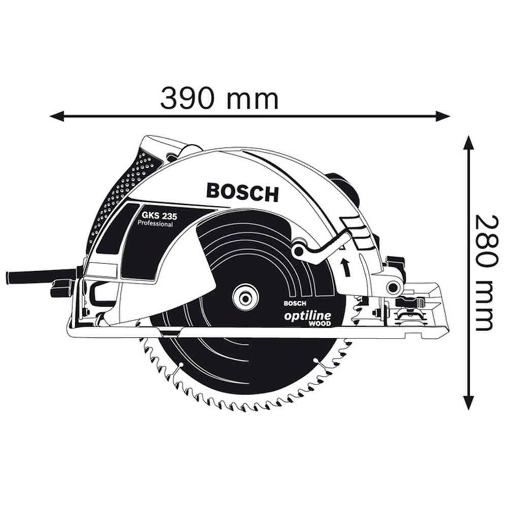 Serra Circular 9.1/4 Pol. 1700W GKS 235 Bosch