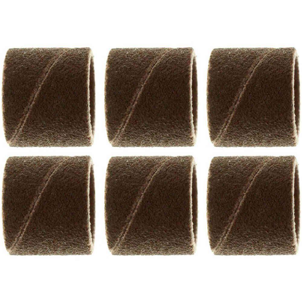 Tubo de Lixa 1/2 Pol. Grão 120 com 6 Peças Dremel 432