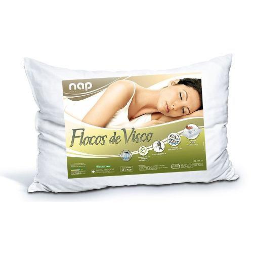 Kit 2 Travesseiros Nap Flocos De Visco + 2 Capas Protetoras Viva Conforto