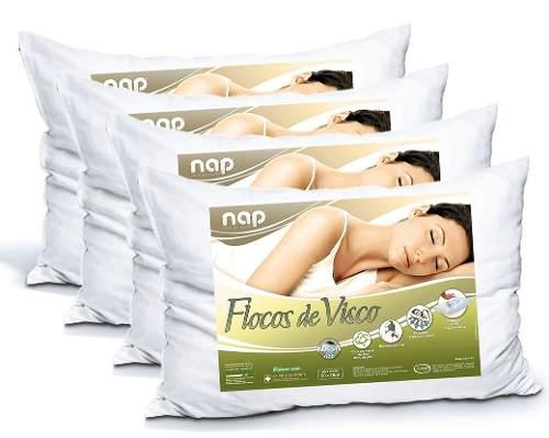 Kit Travesseiros Nasa Nap Flocos De Visco - 4 Peças
