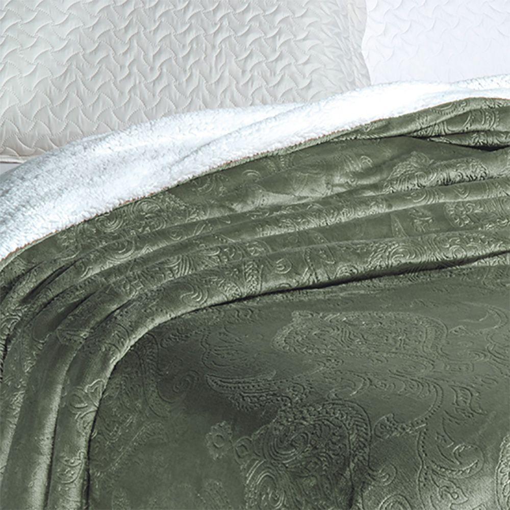 Cobertor Soft Flannel Sherpa Queen Vermont Rozac - Cana
