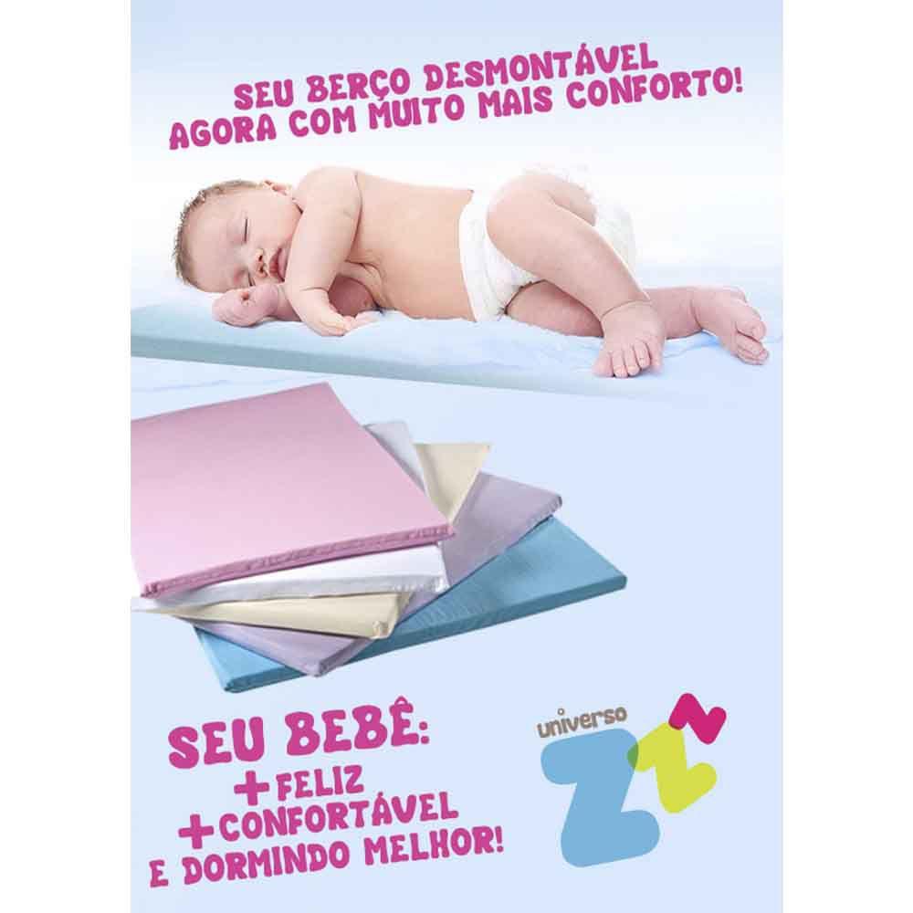 Colchonete Baby para Berço Desmontável Fibrasca