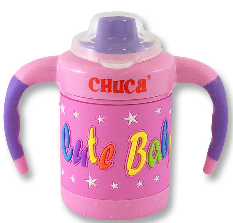Copo de Treinamento Training Cup Baby Multicores  Chuca Baby 170ml  - Rosa