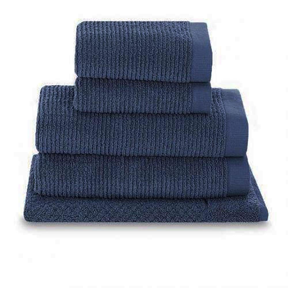 Jogo de Toalhas de Banho Dual Rib  Buddemeyer Azul  5 pçs