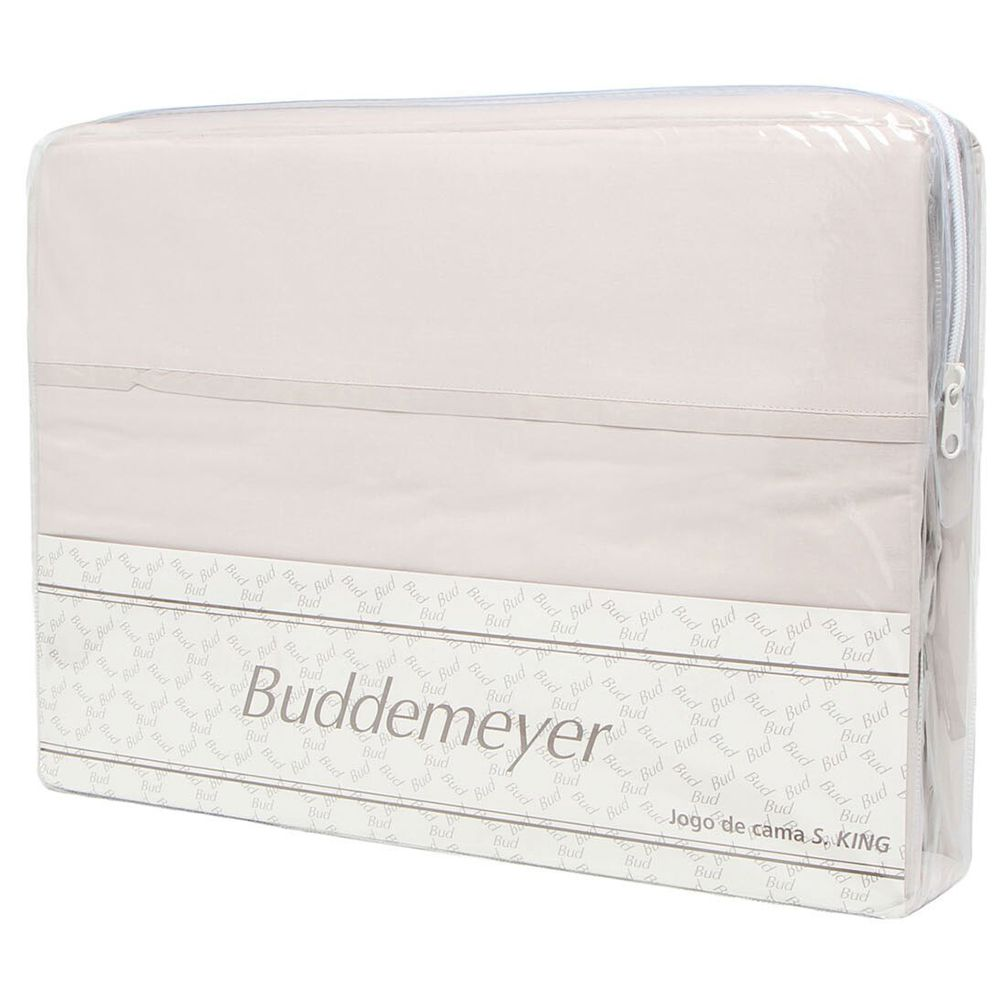 Jogo de Cama 200 Fios Basic Premium Queen Bege Buddemeyer