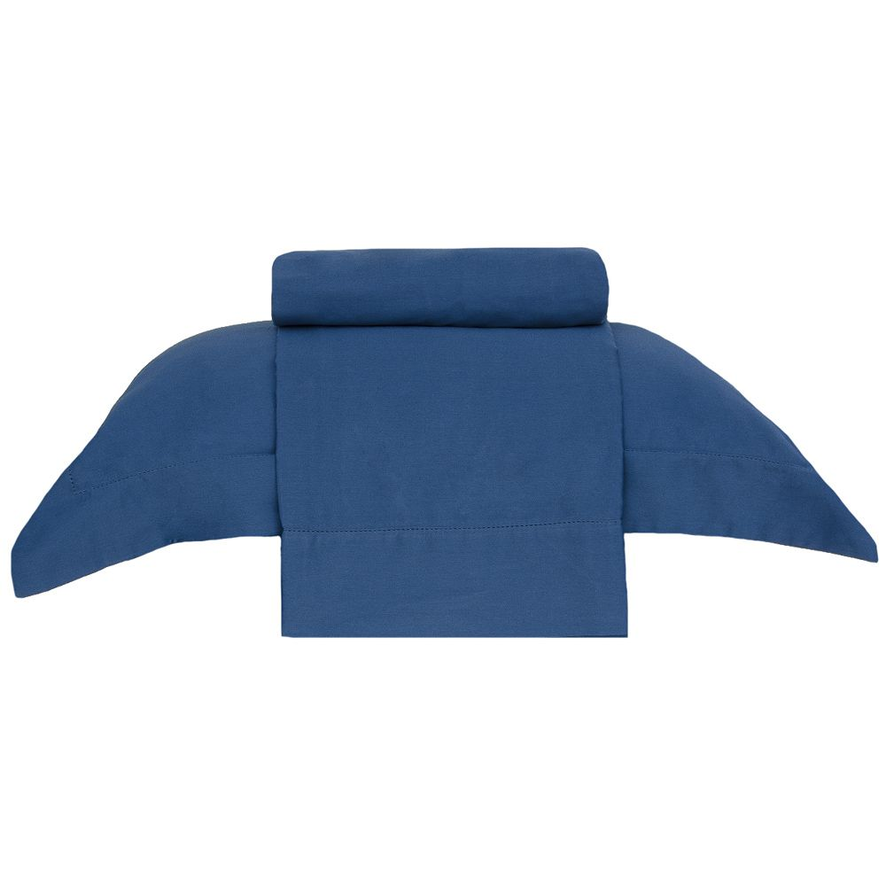 Jogo de Lençol 270 Fios Bud Vision Casal Azul Buddemeyer