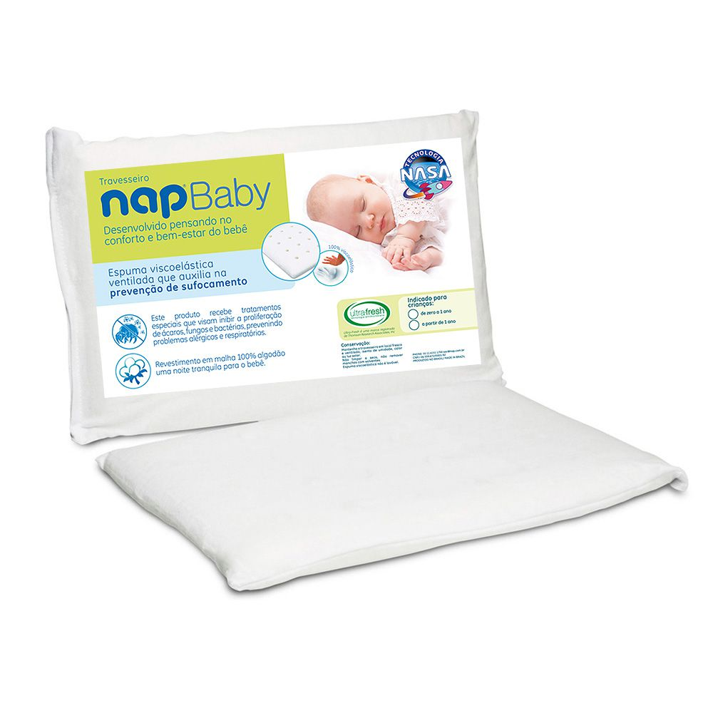 Kit 1 Travesseiro Infantil Nasa Nap Baby + 1 Nap Baby RN