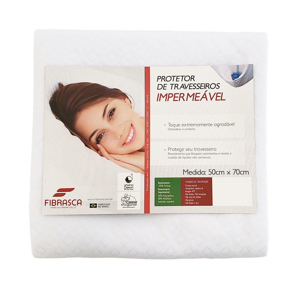 Kit 2 Capas protetora de Travesseiros Impermeável Toque de Rosas Fibrasca
