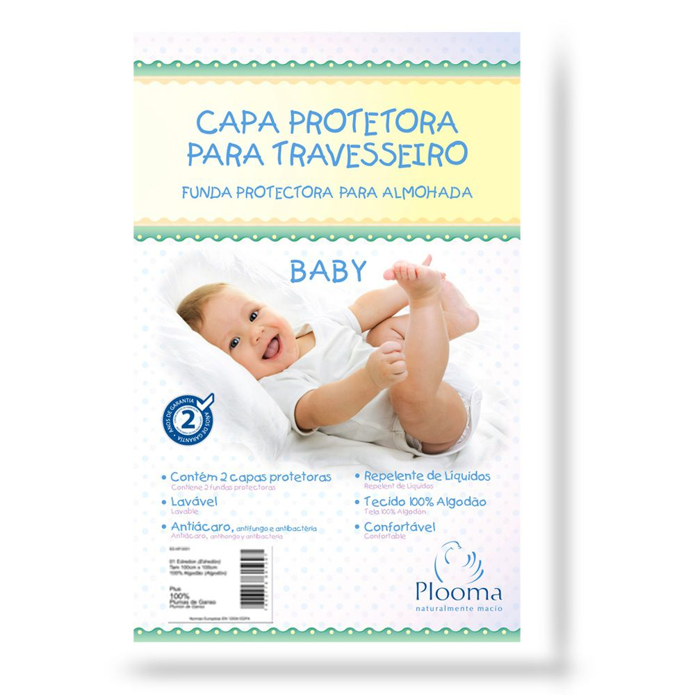 Kit 2 Capas protetoras para travesseiro Baby 30X40 Plooma