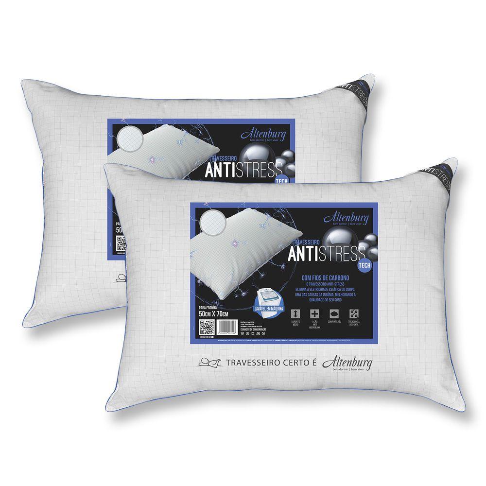KIt 2 Travesseiros Antistress 50x70cm Altenburg