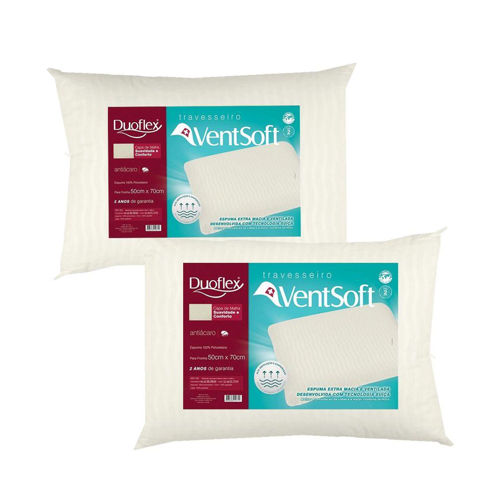 Kit 2 Travesseiros Ventsoft Duoflex