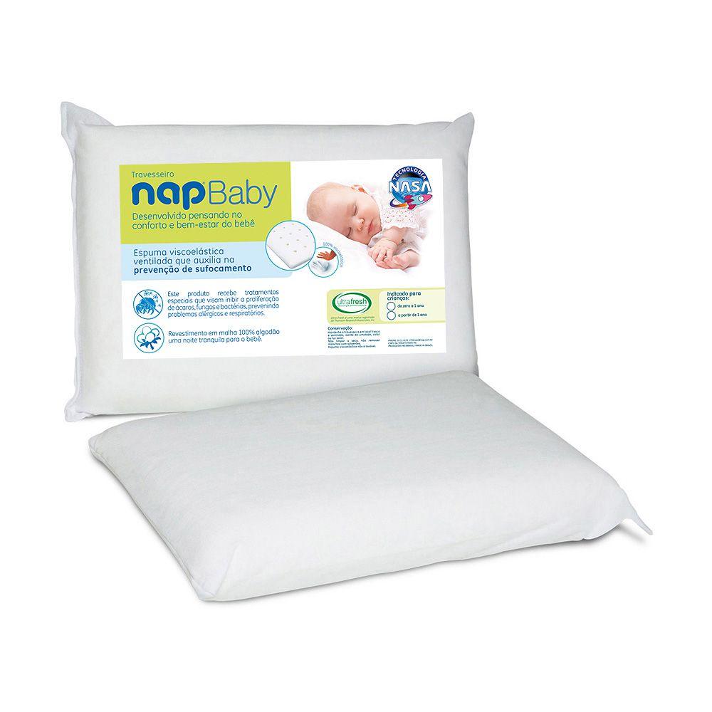 Kit 2 Travesseiros Infantil Nasa Nap Baby Hipoalergênico