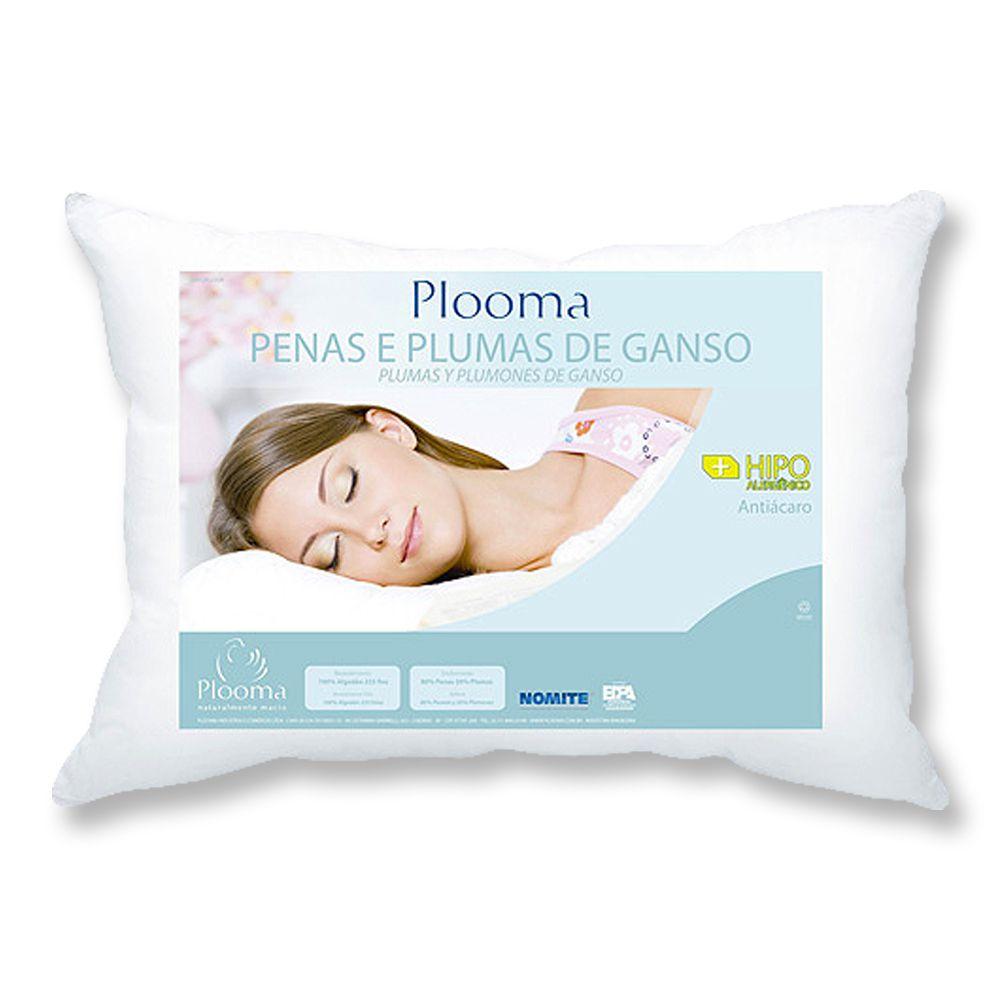 Kit 3 Travesseiros de Penas e Plumas de Ganso - Plooma