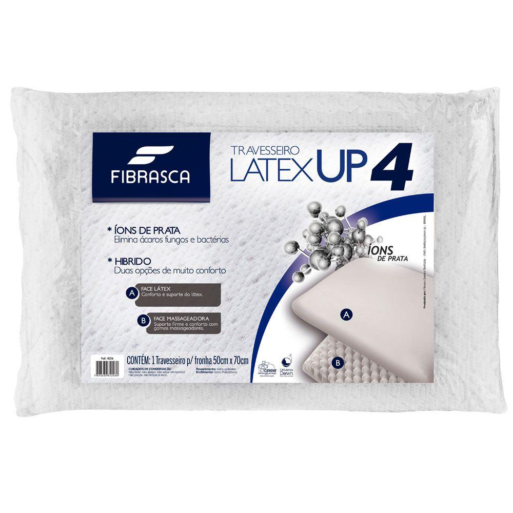 Kit 3 Travesseiros Látex UP4 Fibrasca