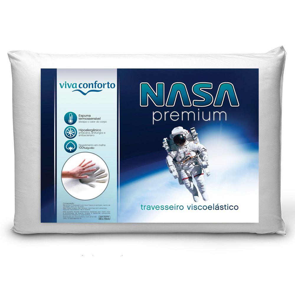 Kit 3 Travesseiros Nasa Viva Conforto