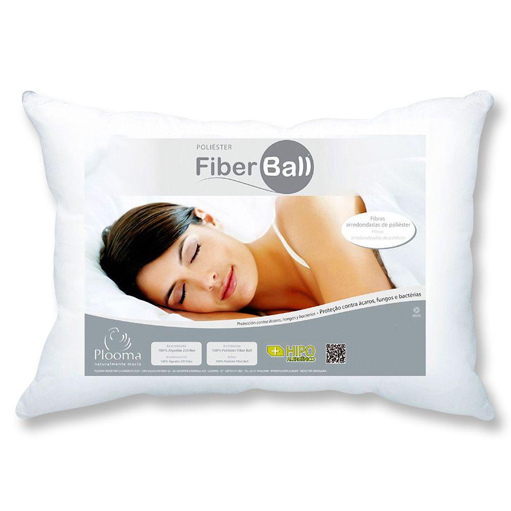 Kit 4 Travesseiros Fiber Ball 50x70 Plooma